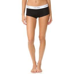 カルバン・クライン カルバン クライン アンダーウェア Calvin Klein Underwear レディース インナー パジャマ・ボトムのみ【Modern Cotton Boy Shorts】Black