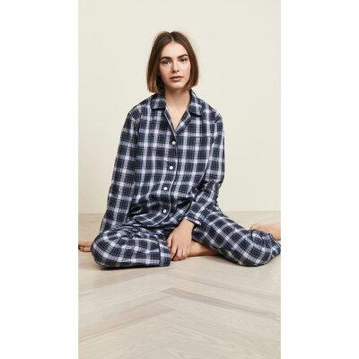 スリーピージョーンズ Sleepy Jones レディース インナー・下着 パジャマ・上下セット【Bishop Pajama Set】Stewart Plaid Green