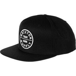 ブリクストン ブリクストン Brixton メンズ 帽子 キャップ【Oath III Snapback Hat】Black