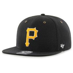 カーハート 47ブランド 47 メンズ キャップ スナップバック 帽子【pittsburgh pirates carhartt captain black adjustable snapback hat】