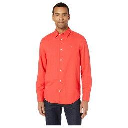 カルバン・クライン カルバンクライン Calvin Klein メンズ トップス シャツ【Long Sleeve Cotton Linen Button Down Shirt】High Risk Red