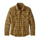 パタゴニア パタゴニア Patagonia メンズ トップス シャツ【Recycled Wool L/S Shirt】Rebel Plaid/Kastanos Brown