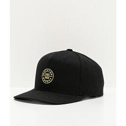 ブリクストン ブリクストン BRIXTON メンズ キャップ スナップバック 帽子【Brixton Oath 110 MP Black Snapback Hat】Black