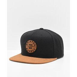 ブリクストン ブリクストン BRIXTON メンズ キャップ スナップバック 帽子【Brixton Oath III Black & Copper Snapback Hat】Black