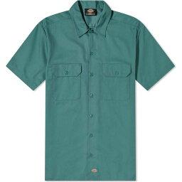 ディッキーズ ディッキーズ Dickies メンズ 半袖シャツ トップス【Short Sleeve Work Shirt】Lincoln Green