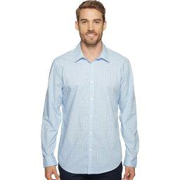 カルバン・クライン カルバンクライン メンズ トップス シャツ【Slim Fit Long Sleeve Infinite Cool Button Down Check Shirt】Blue Capri