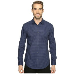 カルバン・クライン カルバンクライン メンズ トップス シャツ【Slim Fit Long Sleeve Infinite Cool Button Down Check Shirt】Knight Blue