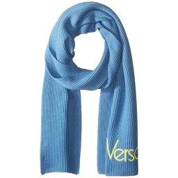 ベルサーチ マフラー(レディース) ヴェルサーチ Versace レディース マフラー・スカーフ・ストール【Vintage Logo Scarf】Ice Blue/Yellow