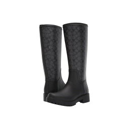 コーチ コーチ COACH レディース シューズ・靴 レインシューズ・長靴【Signature Rain Boot with Signature Coated Canvas】Charcoal/Black Rubber
