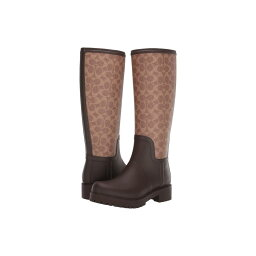 コーチ コーチ COACH レディース シューズ・靴 レインシューズ・長靴【Signature Rain Boot with Signature Coated Canvas】Tan/Dark Brown Rubber