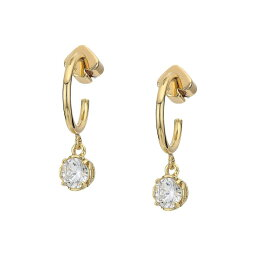 ケイトスペード イヤリング(レディース) ケイト スペード Kate Spade New York レディース ジュエリー・アクセサリー イヤリング・ピアス【That Sparkle Mini Round Huggies Earrings】Clear/Gold