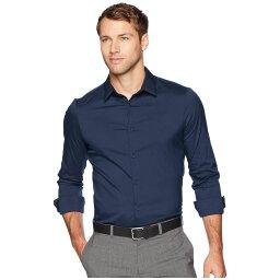 カルバン・クライン カルバンクライン Calvin Klein メンズ シャツ トップス【The Stretch-Cotton Shirt】Total Eclipse