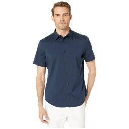 カルバン・クライン カルバンクライン Calvin Klein メンズ 半袖シャツ トップス【Short Sleeve Stretch Cotton Shirt】Total Eclipse