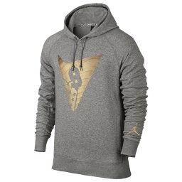 ウエア ジョーダン メンズ バスケットボール ウェア パーカー【Jordan Retro 7 Fleece Pull Over Hoodie】Dark Grey Heather/Metallic Gold