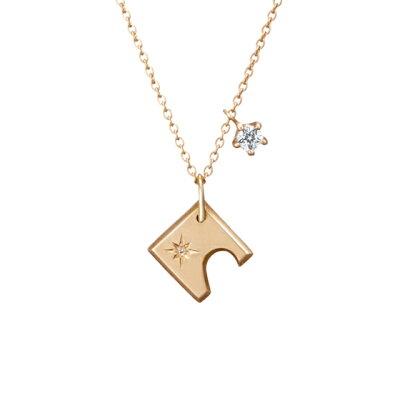 【ネックレス】SV980/925 Wish upon a star TWINKLE キュービック・ ダイヤモンド ネックレス   ふたつの星レディース 送料無料 フェスタリア ビジュソフィア ギフト プレゼント