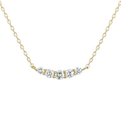 【ネックレス】K18イエローゴールド ダイヤモンド ネックレス  4月誕生石 レディース 送料無料 フェスタリア ビジュソフィア ギフト プレゼント