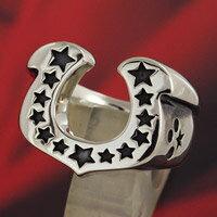 ホースシューリング 馬蹄 スター 星 シルバーリング 指輪 メンズアクセサリー レディースアクセサリー 男性用 女性用 男女兼用 シルバー925 リング シルバーアクセサリー プレゼントに大人気 送料無料