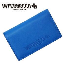 ブリー  インターブリード INTERBREED 名刺入れ Genuine Leather Bicolor Card Case 本牛革 青 IB17AW-46-47