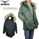 アヴィレックス 【20%OFF!】AVIREX アビレックス 6152175 N-3B COMMERCIAL タイトフィット アヴィレックス メンズ ジャケット n3b
