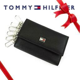 トミーヒルフィガー キーケース(レディース) トミーヒルフィガー Tommy Hilfiger メンズ 6連 キーケース キーフォルダー [31TL17X002/94-4510/01BK]