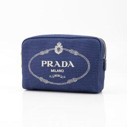 プラダ シガレットケース プラダ PRADA ポーチ CANAPA 1NA021-2OL BL-TA ブルー/ホワイト  ギフトラッピング無料 ラッキーシール対応
