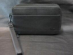 セカンドバッグ 本物正規■TUMI トゥミ■ トリプルジップクラッチバッグ/セカンド ナパレザー HORIZON/黒◆新品