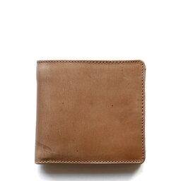 ホワイトハウスコックス 二つ折り財布(メンズ) ホワイトハウスコックス【Whitehouse Cox】型番:S7532(ナチュラル) 財布 二つ折り財布 ツートン ヴィンテージブライドルレザー 牛革 男女兼用(ベージュ)
