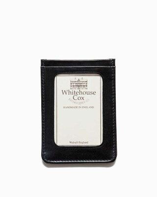 ホワイトハウスコックス【Whitehouse Cox】型番:S9905(ブラック) パスケース 定期入れ ビジネスツール アクセサリー ブライドルレザー 牛革 男女兼用