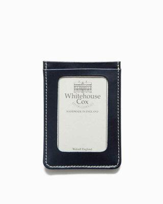 ホワイトハウスコックス【Whitehouse Cox】型番:S9905(ネイビー) パスケース 定期入れ ビジネスツール アクセサリー ブライドルレザー 牛革 男女兼用