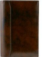 フランクリンプランナー 手帳 【ポケットサイズ(ナロー変形サイズ)】アンティーク・ガラス・レザー・バインダーチョコ【リング径15mm 6穴】