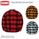 チャムス CHUMS チャムス メンズ シャツ CH02-1147<Heavy Nel Shirts Garment Dyed ヘビーネルシャツガーメントダイ(シャツ/トップス)>※取り寄せ品