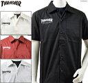 スラッシャー スラッシャー シャツ 半袖/THRASHER ワークシャツ MAG LOGO S/S SHIRT/メンズ ストリート/送料無料/