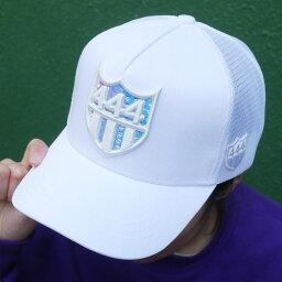 ヨシノリコタケ 新品 ヨシノリコタケ YOSHINORI KOTAKE x バーニーズ ニューヨーク BARNEYS NEWYORK HOLOGRAM 444LOGO MESH CAP キャップ WHITE ホワイト メンズ 新作