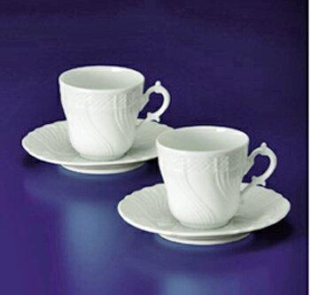 リチャードジノリ(Rechard Ginori)ベッキオホワイト ペアコーヒーカップ&ソーサー(L)(A01021P)★ブランド食器/コーヒー碗/ギフトセット★