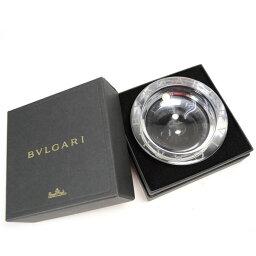 ブルガリ ブルガリ 灰皿 円型 12cm クリスタルガラス 47502 BVLGARI クリア 【美品】【未使用品】【送料無料】