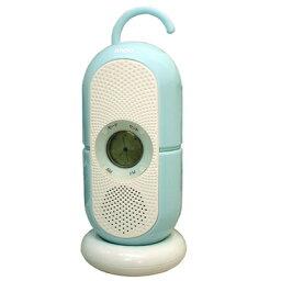 バスラジオのギフト ANDO 防滴お風呂クロックラジオ R9-381W