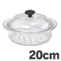 耐熱ガラス鍋 【送料無料】[P]CHASSEUR(シャスール) ガラス スチーマー 20cm CH20【代引不可】