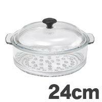 耐熱ガラス鍋 【送料無料】[P]CHASSEUR(シャスール) ガラス スチーマー 24cm CH24【代引不可】