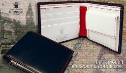 エッティンガー 二つ折り財布(メンズ) ETTINGER / エッティンガー ●NAVY-WHITE-RED ( RUBY ) Color Collection BILLFOLD / カード&コインパース 141JR ( メンズ/レザー/二つ折り財布/コインケース/カード入れ/ビルフォード ) 【楽ギフ_包装】( KBHV )