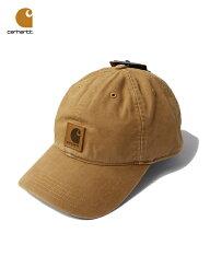 カーハート 【USモデル】Carhartt カーハート コットンキャップ 6パネルキャップ ウォッシュ ロゴ ブラウン 茶色 ODESSA CAP brown