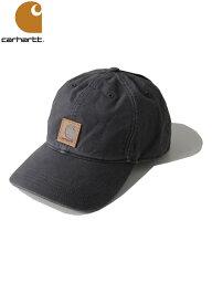 カーハート 【USモデル】Carhartt カーハート コットンキャップ 6パネルキャップ ウォッシュ ロゴ ブラック 黒 ODESSA CAP washed black