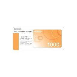 Wiiポイント 【クレジット支払不可】ニンテンドープリペイドカード1000円 150315