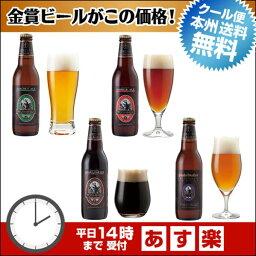 ビール飲み比べセット 金賞地ビール(クラフトビール)飲み比べ 4種4本 詰め合わせギフト【本州送料無料】【あす楽:平日14時〆切】内祝いなどのし対応。名入れ可