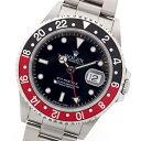GMTマスター 腕時計(メンズ) 激レア 新品 正規品 ロレックス GMTマスターII 赤黒ベゼル 16710 T番 ステンレススチール製 黒文字盤 自動巻メンズ腕時計