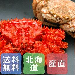 花咲ガニ 花咲蟹と毛蟹の2種競演セット 北海道産 約500g×各1尾