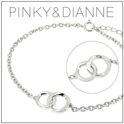 ピンキー&ダイアン シャープライン サークル シルバーブレスレット シルバー ブレスレット シンプル メンズ 男性 プレゼント 記念日 誕生日 ブランド 人気 彼氏 かっこいい おしゃれ