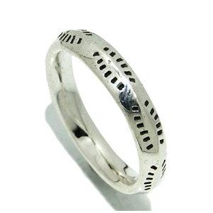 斑点模様のシンプル シルバーリング 9〜15号 メンズ リング 指輪 銀の蔵 シルバー925 男性用 メンズリング 男性用指輪 プレゼント 人気 おしゃれ