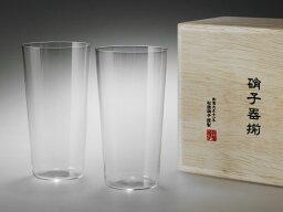 うすはりビールグラス 【メールマガジン希望ご選択で3%OFF!】 うすはりグラス タンブラーL 木箱2Pセット 〔松徳硝子〕