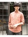 (M)OXフォードB.Dシャツ GLOBAL WORK グローバルワーク シャツ/ブラウス 長袖シャツ オレンジ ブルー ベージュ ホワイト グリーン ネイビー[Rakuten Fashion]