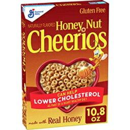 シリアル ハニーナッツチェリオス、グルテンフリー、オート麦入りシリアル、10.8オンスボックス 10.8 Ounce (Pack of 1), Honey Nut Cheerios, Cereal with Oats, Gluten Free, 10.8 oz